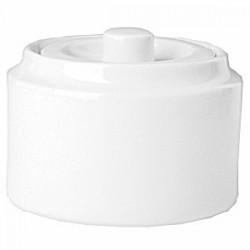 Крышка для сахарницы «Прага»; фарфор; 200мл; D=7, H=4см; белый
