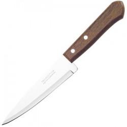 Нож поварской; сталь, дерево; L=300/175, B=40мм; коричнев.,