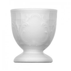 Подставка для яйца «Моцарт»; фарфор; D=45, H=55мм; белый