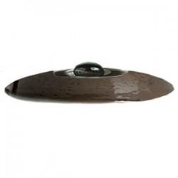 Крышка для бульон. чашки (1132 B828) «Крафт»; фарфор; D=130, H=25мм; коричнев.
