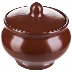 Горшок для запекания «Шоколад»; фарфор; 400мл; D=10, 5, H=10, 5см; тем.корич.