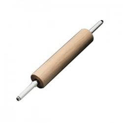 Скалка; бук; L=70/40, B=9см; древесн., белый