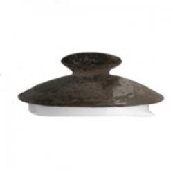 Крышка д/чайника «Крафт»; фарфор; серый