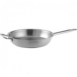 Сковорода 2 ручки; сталь нерж.; D=300, H=65мм; металлич.