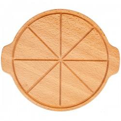 Доска д/пиццы с 2ручками; бук; D=35см; деревян.