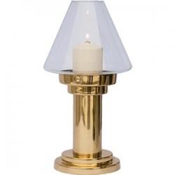 Светильник «Делия»; сталь, стекло; D=12, 4, H=24, 6см; золотой, прозр.