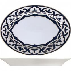 Блюдо овальное «Восток»;  H=33, L=315, B=212мм; синий