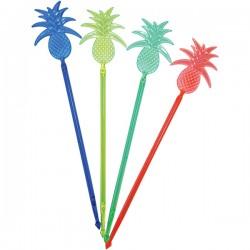 Мешалка «Ананас»[100шт]; полистирол; L=23, 5см; разноцветн.
