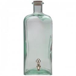 Банка-емкость с краном с пробкой; стекло; 5л; H=39см; прозр.