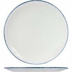 Блюдо д/пиццы «Блю дэппл»; фарфор; D=31, 5см; белый, синий