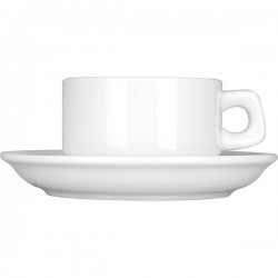 Пара кофейная «Кунстверк»; фарфор; 100мл; D=7/12см; белый