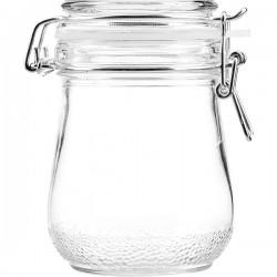 Банка для сыпучих продуктов , стекло; силикон, металл; 0, 5л;