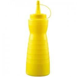 Емкость для соусов; пластик; 0, 69л; D=7, H=26см; желт.