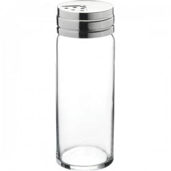 Емкость соль/перец «Бэйзик»; стекло, сталь нерж.; 240мл; D=52, H=142мм; прозр.,