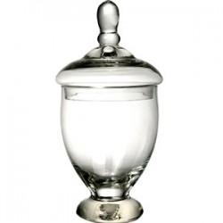 Ваза для сервировки с крышкой; стекло; 1, 5л; D=13, 7, H=31, 5см;