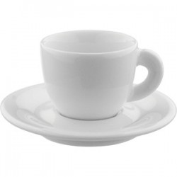 Пара кофейная «Эдекс»; фарфор; 70мл; H=49мм; белый