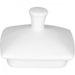 Крышка для сахарницы «Виктория»; фарфор; 300мл; L=65, B=65мм; белый