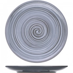 Тарелка мелкая «Пинки»; керамика; D=22, H=2см; серый