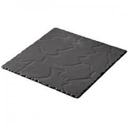 Блюдо квадратное «Базальт»; керамика; L=15, B=15см; черный, матовый