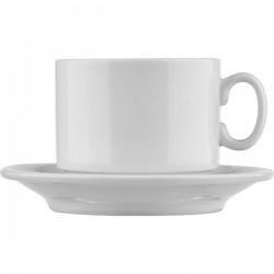 Пара чайная «Капучино»; фарфор; 280мл; белый
