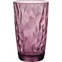 Хайбол «Даймонд»; стекло; 470мл; D=85, H=144мм; фиолет.
