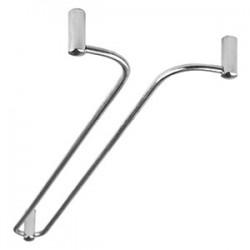 Направ-щая для бокалов «Дуга»; никель; H=5, L=400, B=110мм; серебрян.