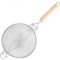 Дуршлаг двойн. сетка; нержавеющая сталь, D=24, H=10, L=57, 5см