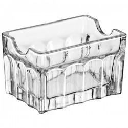 Емкость для пакет. сахара «Гибралтар»; стекло; H=55, L=90, B=60мм; прозр.
