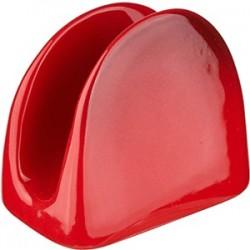 Салфетница; керамика; красный
