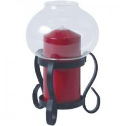 Светильник масляный «Рустика»; сталь, стекло; D=11, 8, H=18, 1см; черный, красный