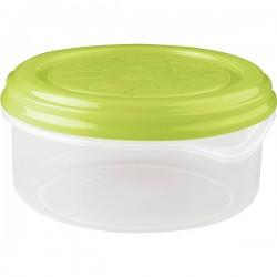 Контейнер для холодильника и микров. печи; полипроп.; 0, 9л; D=149, H=73мм; , зелен.