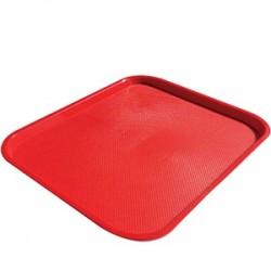 Поднос для Фаст Фуд; пластик; H=20, L=455, B=355мм; красный
