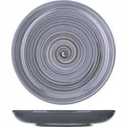 Миска для вторых блюд «Пинки»; керамика; D=18, H=3см; серый