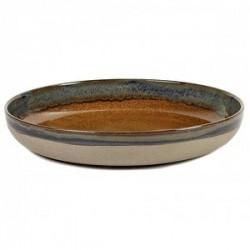 Блюдо глуб. «Серфис»; керамика; D=320, H=55мм; коричнев.