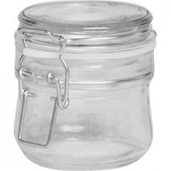 Банка для сыпучих продуктов , стекло; силикон, металл; 250мл; D=8, H=9см; прозр.