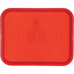 Поднос для Фаст Фуд; пластик; H=20, L=457, B=356мм; красный
