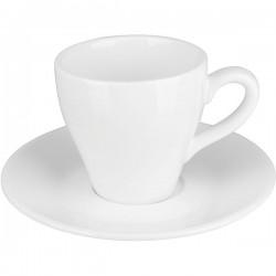 Пара кофейная «Кунстверк»; фарфор; 70мл; D=65/120мм; белый