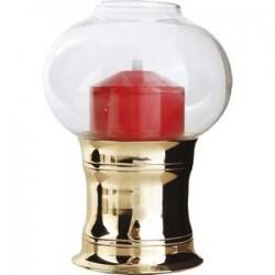 Светильник масляный «Студио»; сталь, стекло; D=11, 8, H=16см; золотой, красный
