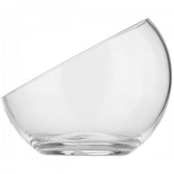 Ваза-шар косой срез; стекло; D=12см; прозр.