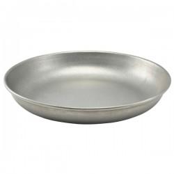 Блюдо глубокое д/подачи; цвет-состарен.сталь; сталь; D=24, H=4см