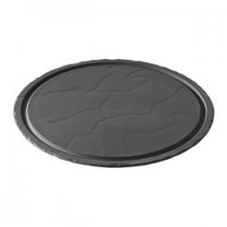 Блюдо круглое « Basalt»; D=30, H=1см; черный