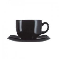 Набор чайных пар «Квадрато»[6шт]; стекло; 160мл; D=75, H=75, L=135, B=370мм; черный