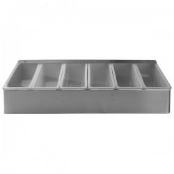 Контейнер для специй и соусов, 6 отделений; сталь нерж., пластик; L=45, 5см
