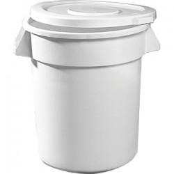 Бак для хранения пр-тов (без крышки и тел-ки); поликарбонат; 75, 7л; D=51, H=58, L=60см; белый