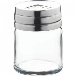Емкость соль/перец «Бэйзик»; стекло, сталь нерж.; 115мл; D=52, H=68мм; прозр.,
