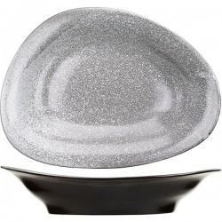 Блюдо «Млечный путь»; фарфор; L=31, B=23см; белый, черный