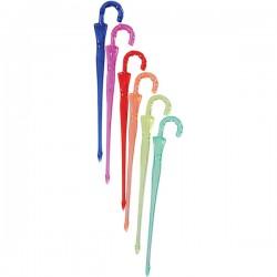 Пики для канапе «Зонтик»[300шт]; полистирол; L=9см; разноцветн.