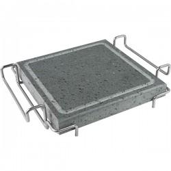 Камень для подачи горячих блюд; нат.камень; H=50, L=285/220, B=210мм; серый,