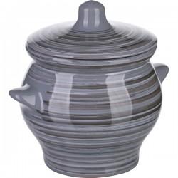 Горшок для запекания «Пинки»; керамика; 0, 65л; D=12см; серый