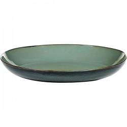 Блюдо глубокое; керамика; D=355, H=80мм; серый, синий